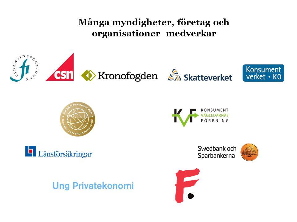 Många myndigheter, företag och organisationer medverkar