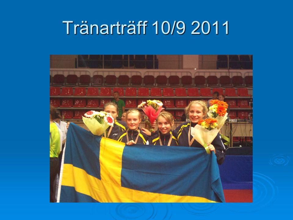 Tränarträff 10/9 2011