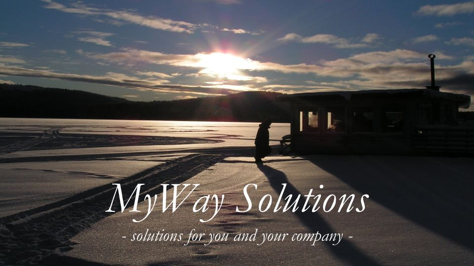 MyWay Solutions - solutions for you and your company - MyWay Solutions - solutions for you and your company -