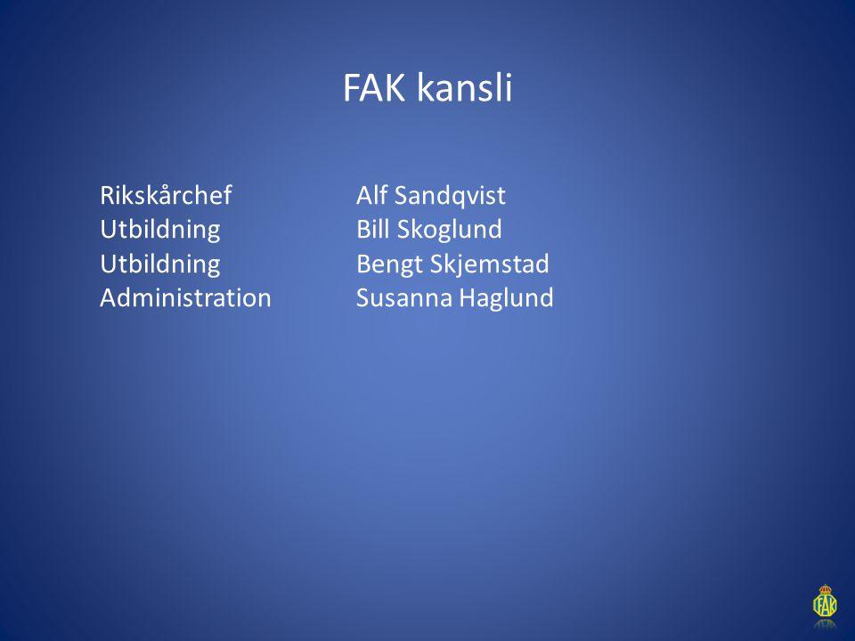 FAK har 400 personer med avtal FAK har drygt 400 personer med avtal med Svenska kraftnät, Trafikverket, kommuner (FRG) mm med avtal.
