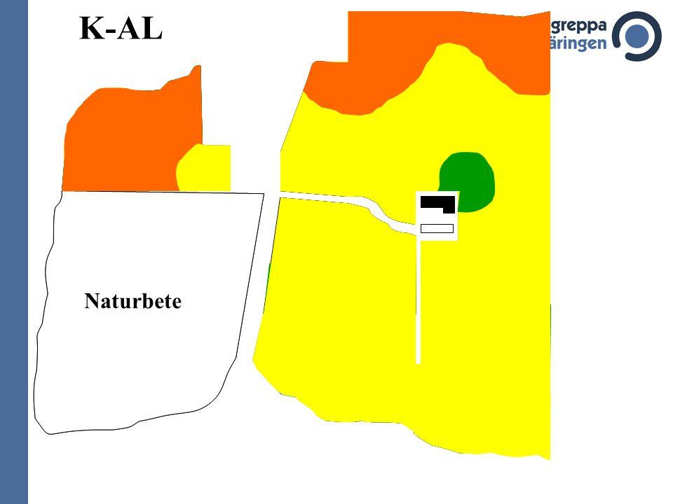 Växtföljd korn + ins50 dt/ha vall I6 ton ts/ha vall II 6 ton ts/ha vall III 4 ton ts/ha höstvete 70 dt/ha majs 8 ton/ha dessutom naturbeten på 35 ha