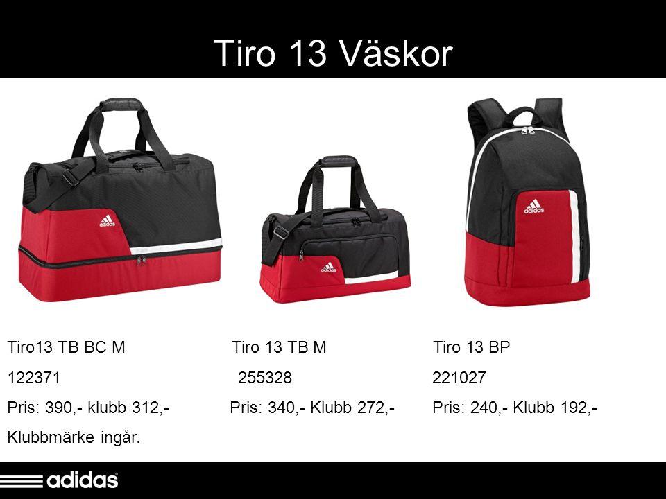 Tiro 13 Väskor Tiro13 TB BC M Tiro 13 TB M Tiro 13 BP 122371 255328 221027 Pris: 390,- klubb 312,- Pris: 340,- Klubb 272,- Pris: 240,- Klubb 192,- Klubbmärke ingår.