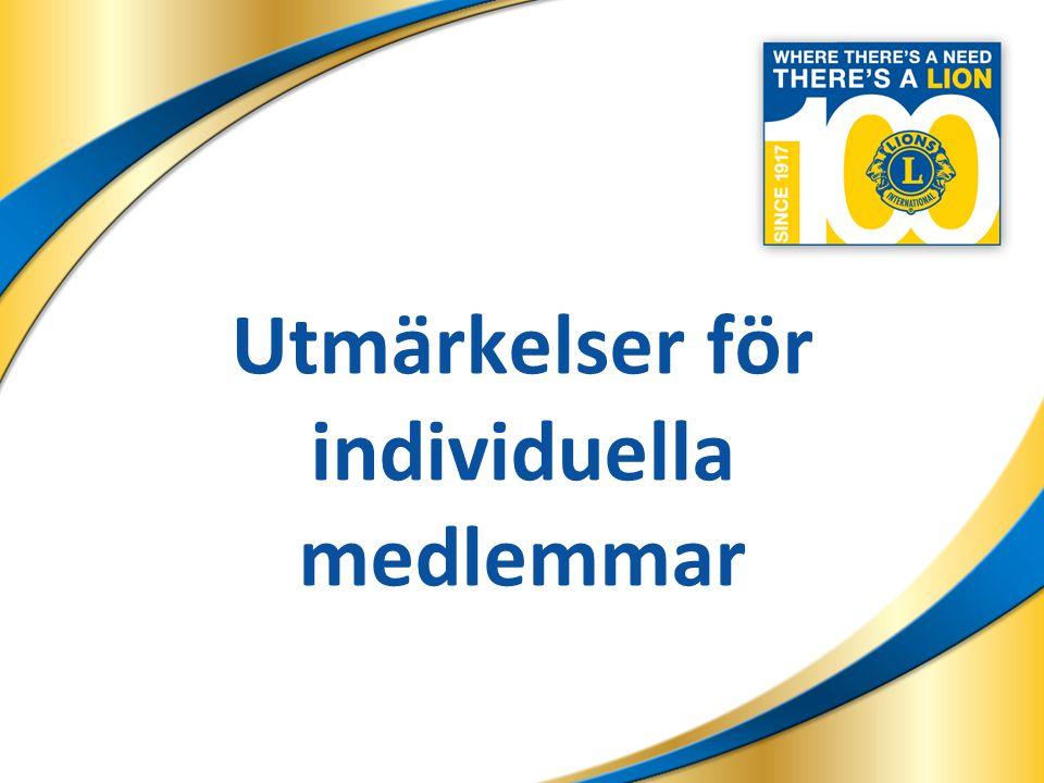 17 Klubbutmärkelser 17 Jubileumsklubb i världsklass Lionklubb som tar upp minst tre nya medlemmar under vart och ett av åren för utmärkelseprogrammet.