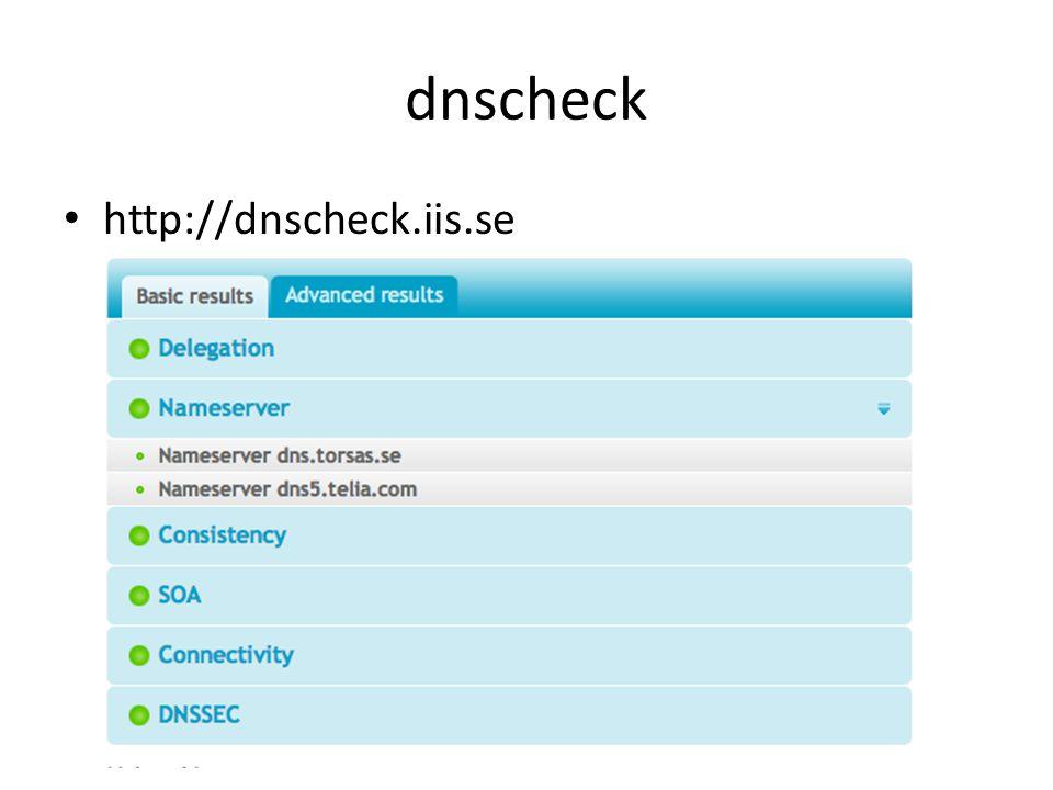 dnscheck http://dnscheck.iis.se