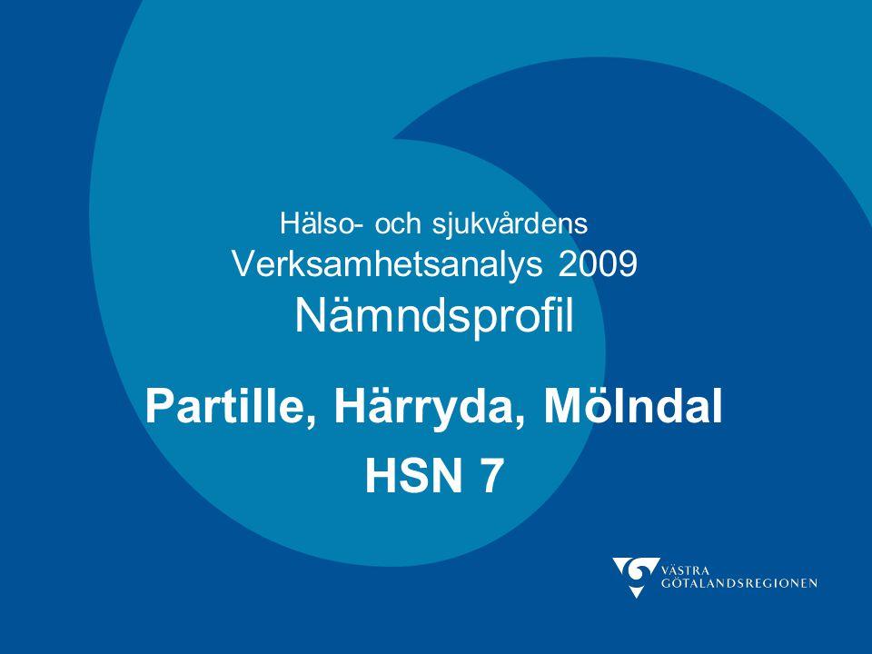 Hälso- och sjukvårdens Verksamhetsanalys 2009 Nämndsprofil Partille, Härryda, Mölndal HSN 7