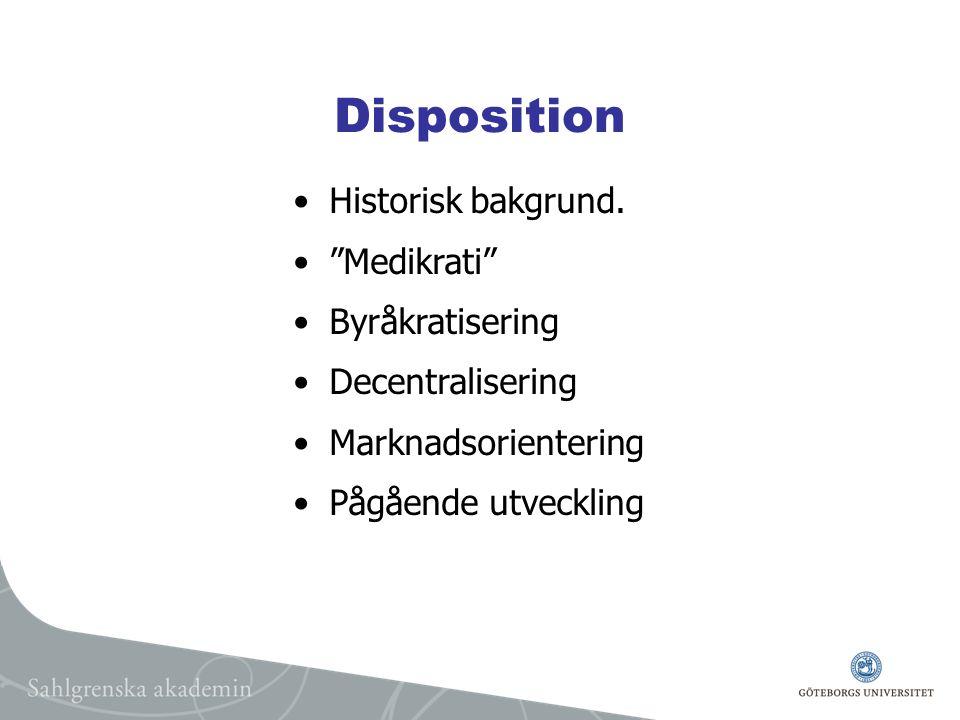 Disposition Historisk bakgrund.