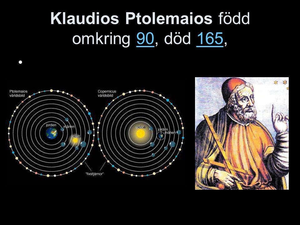 Nikolaus Kopernikus 1473-1543 Polsk astronom, hävdade att solen var centrum i universum.