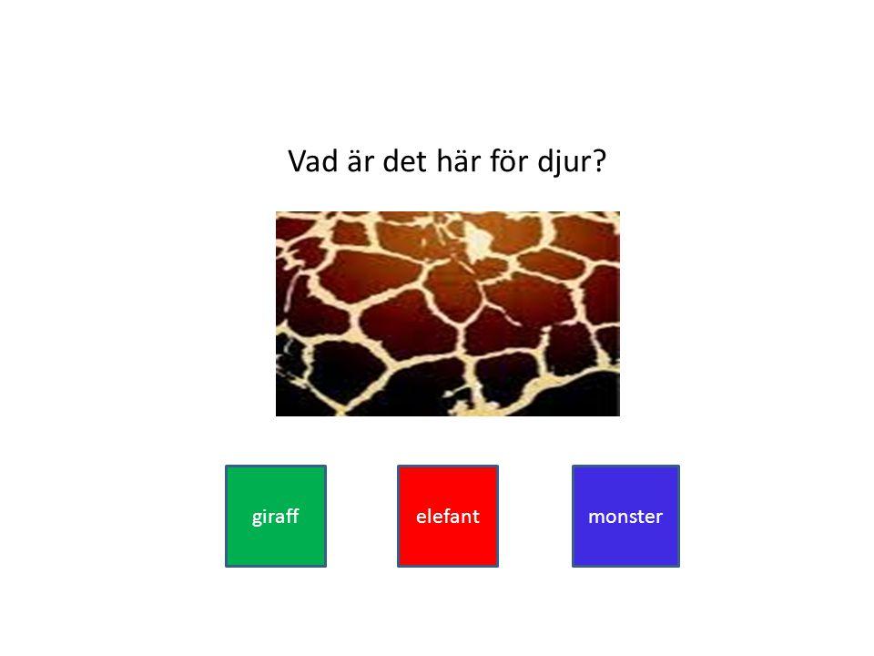 Vad är det här för djur giraffelefantmonster