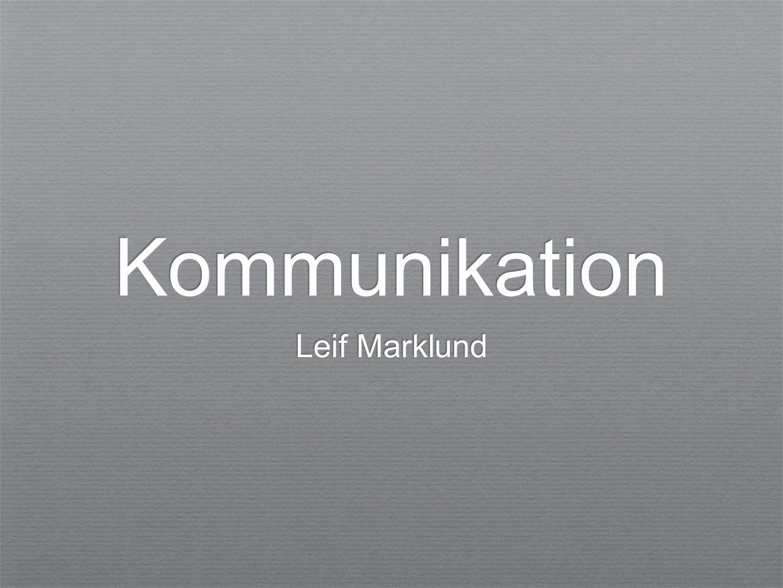 Kommunikation Leif Marklund