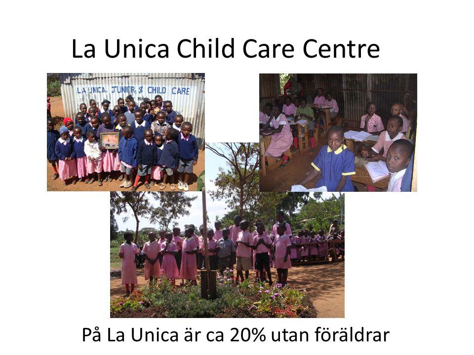 La Unica Child Care Centre I byn Lusigeti, Kenya På La Unica är ca 20% utan föräldrar