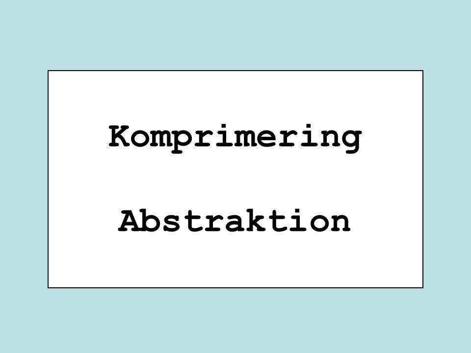 Komprimering Abstraktion