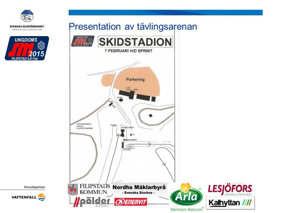Presentation av tävlingsarenan Arrangörens logotyp