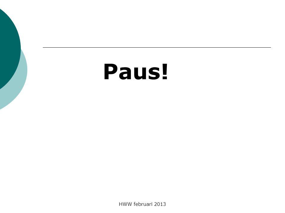 HWW februari 2013 Paus!