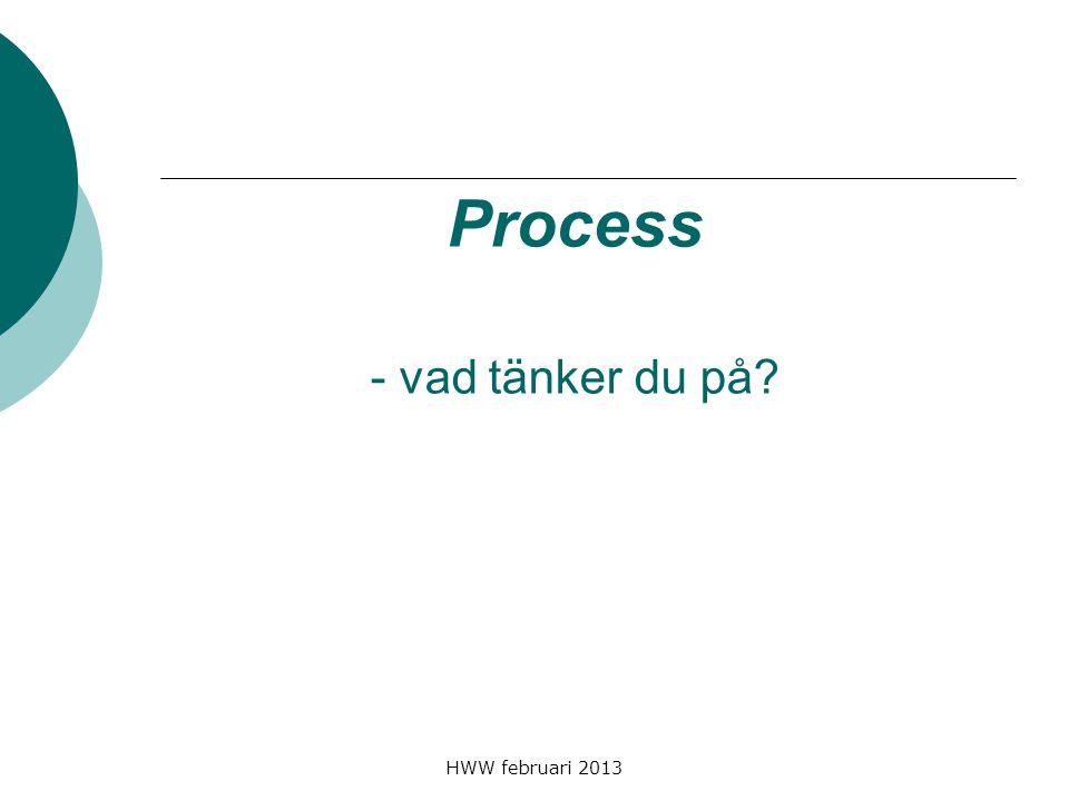 HWW februari 2013 Process - vad tänker du på?