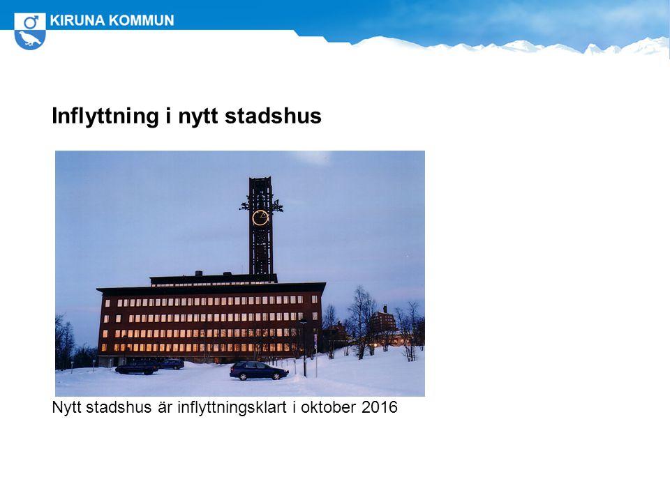 Inflyttning i nytt stadshus Nytt stadshus är inflyttningsklart i oktober 2016