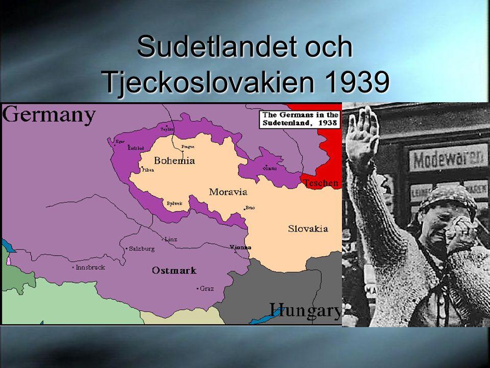 Sudetlandet och Tjeckoslovakien 1939