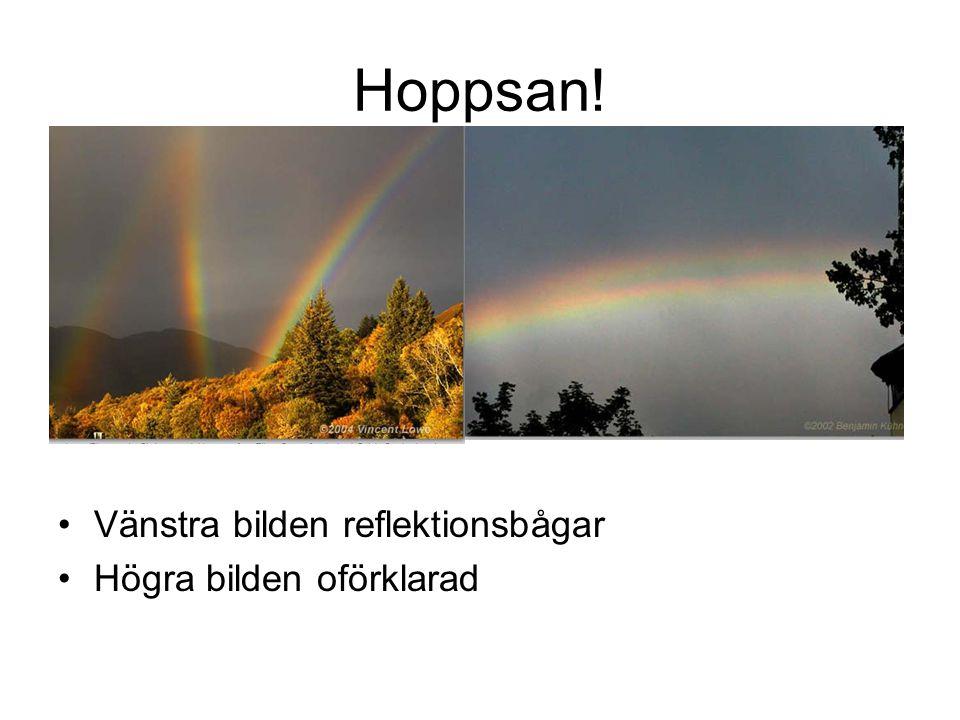 Hoppsan! Vänstra bilden reflektionsbågar Högra bilden oförklarad