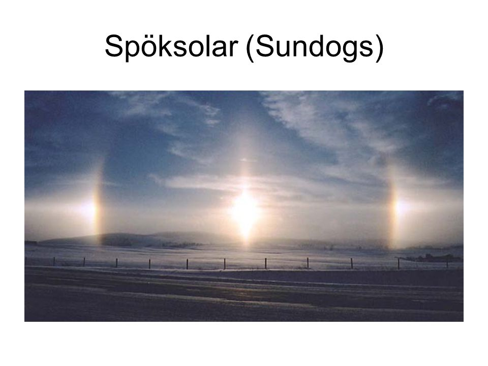 Spöksolar (Sundogs)