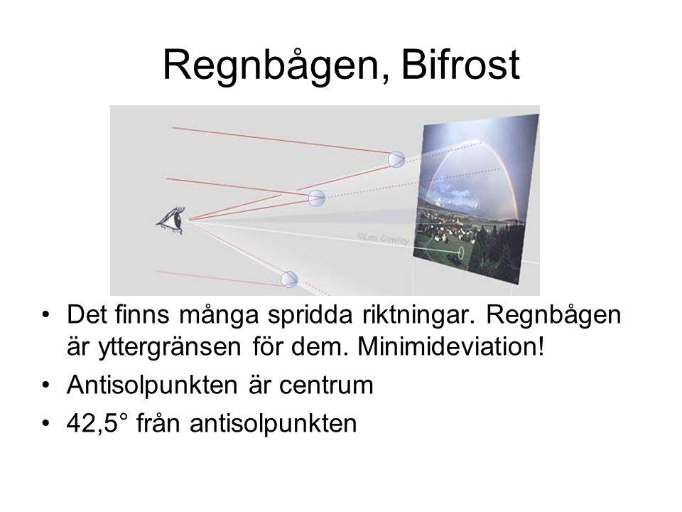 Regnbågen, Bifrost Det finns många spridda riktningar.