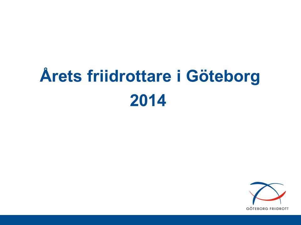 Årets friidrottare i Göteborg 2014