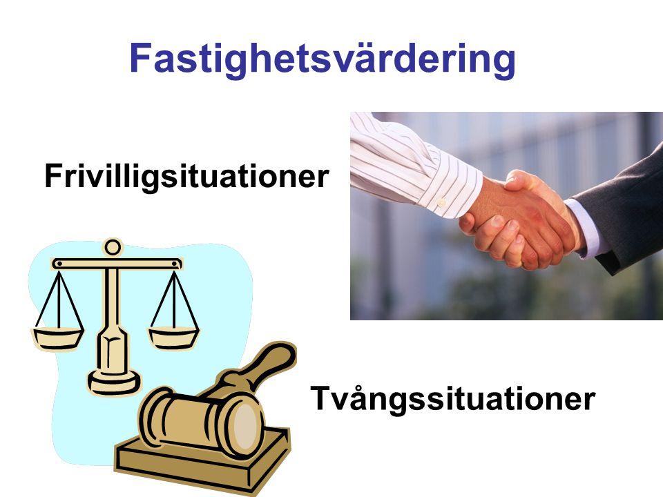 Frivilligsituationer Tvångssituationer Fastighetsvärdering