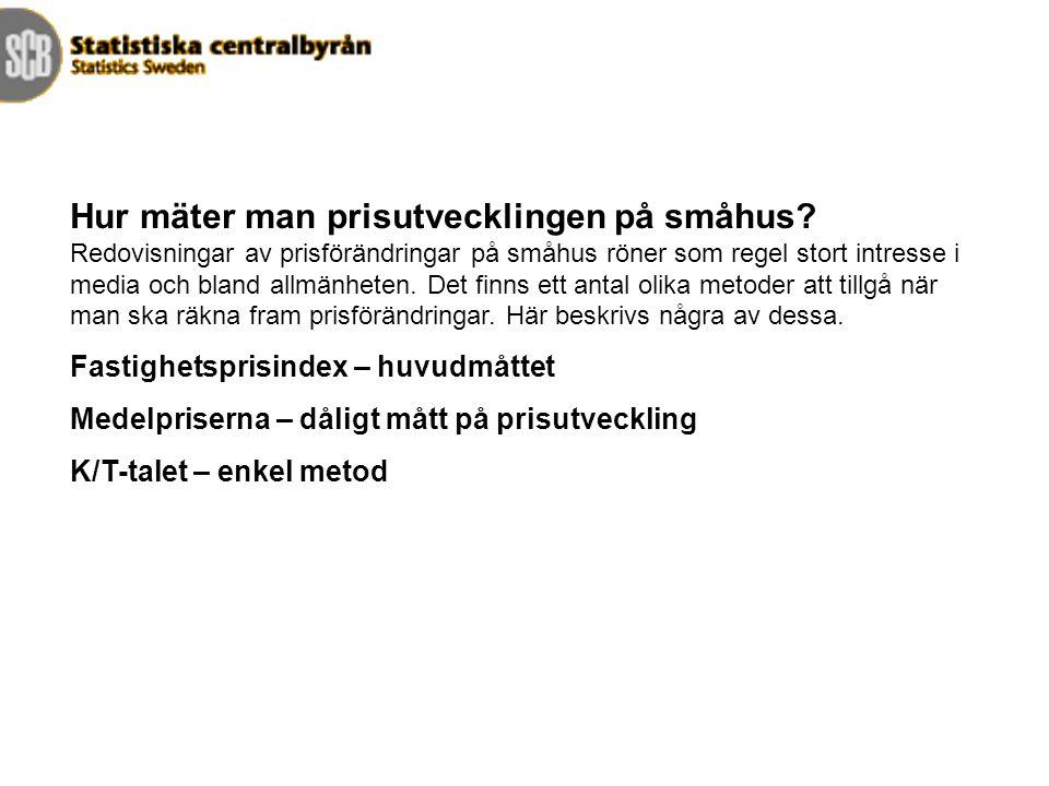 Fastighetsprisindex Årsvärden. Index 1981=100. Som jämförelse visas också konsumentprisutvecklingen