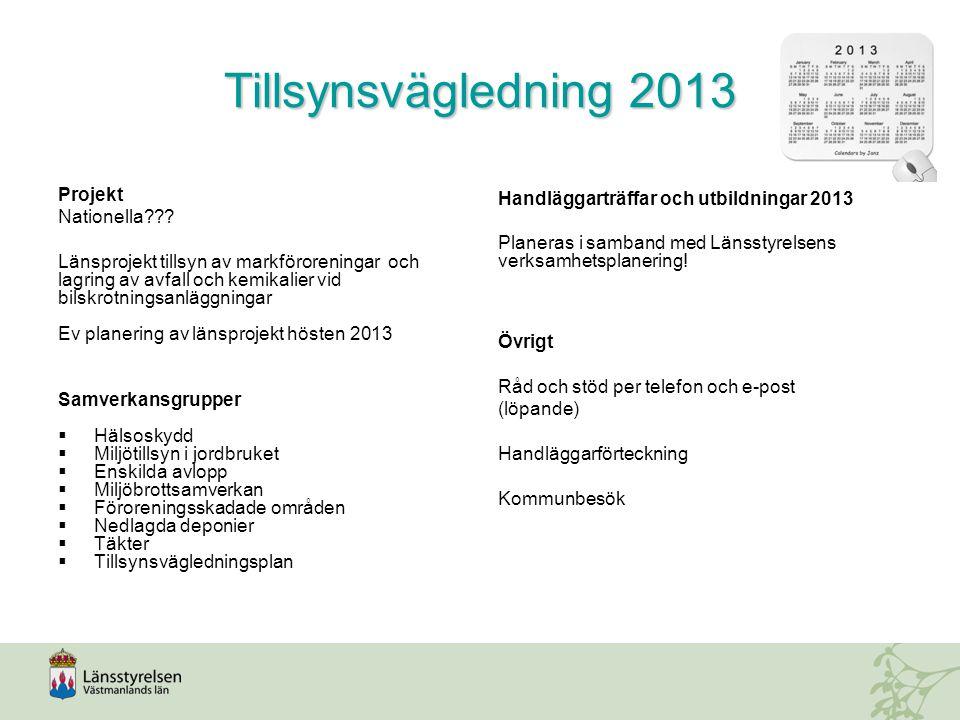 Tillsynsvägledning 2013 Projekt Nationella .