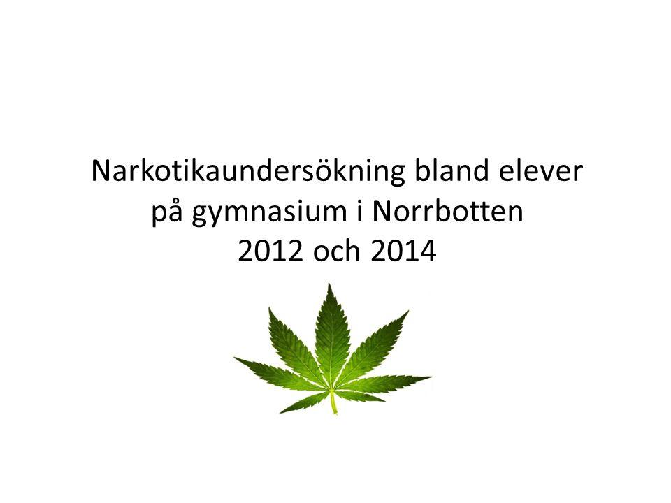 Narkotikaundersökning bland elever på gymnasium i Norrbotten 2012 och 2014