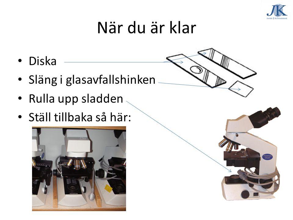 När du är klar Diska Släng i glasavfallshinken Rulla upp sladden Ställ tillbaka så här: