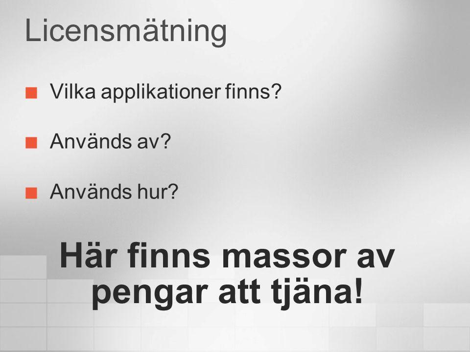 Asset Management Hårdvaruinventering Mjukvaruinventering Licenshantering Hårdvaruinventering Mjukvaruinventering Licenshantering Olof Rosengren Systemkonsult Martinsson Stockholm