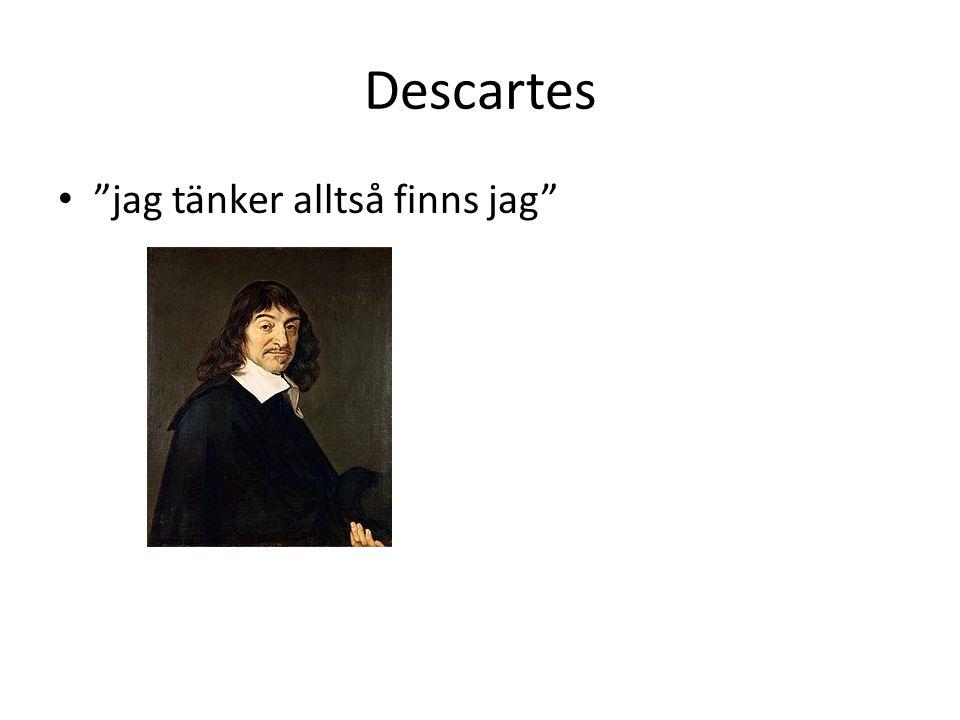 Descartes jag tänker alltså finns jag
