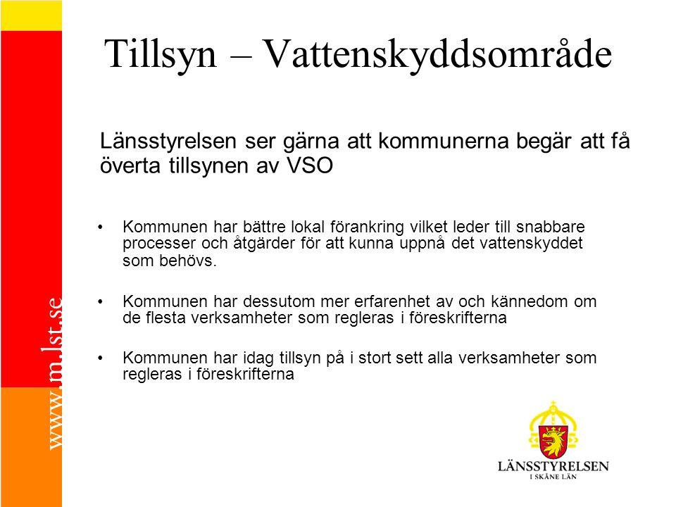 Länsstyrelsens roll (tillsyn) Tillsynsvägledning Delta i/driva kampanjer/projekt - kemikalielagring i cisterner 02/03 - VSO – bra/tillämpbara föreskrifter 07/08 Miljösamverkan skåne