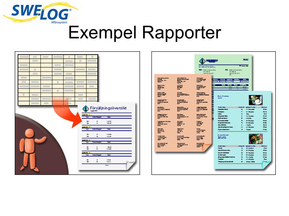 Exempel Rapporter