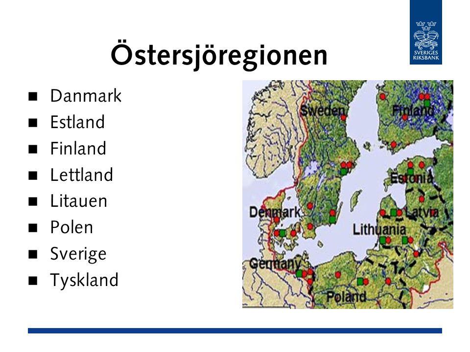 Östersjöregionen Danmark Estland Finland Lettland Litauen Polen Sverige Tyskland