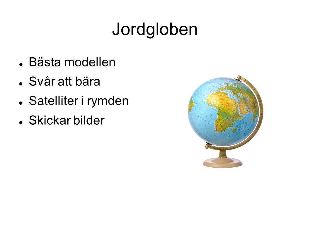 Jordgloben Bästa modellen Svår att bära Satelliter i rymden Skickar bilder