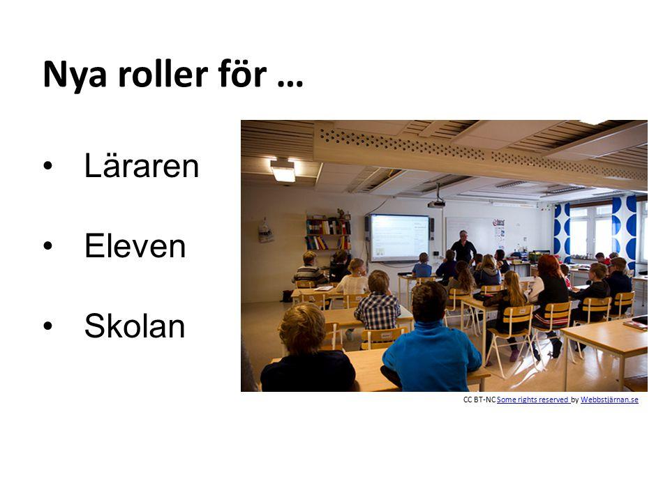 Läraren Eleven Skolan Nya roller för … CC BT-NC Some rights reserved by Webbstjärnan.seSome rights reserved Webbstjärnan.se