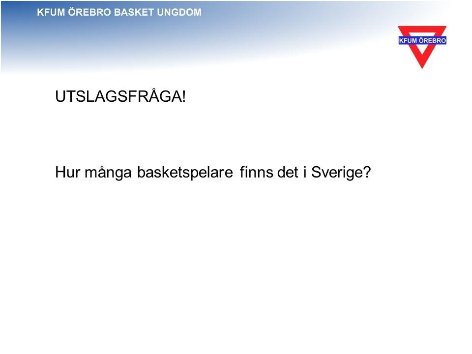 UTSLAGSFRÅGA! Hur många basketspelare finns det i Sverige?