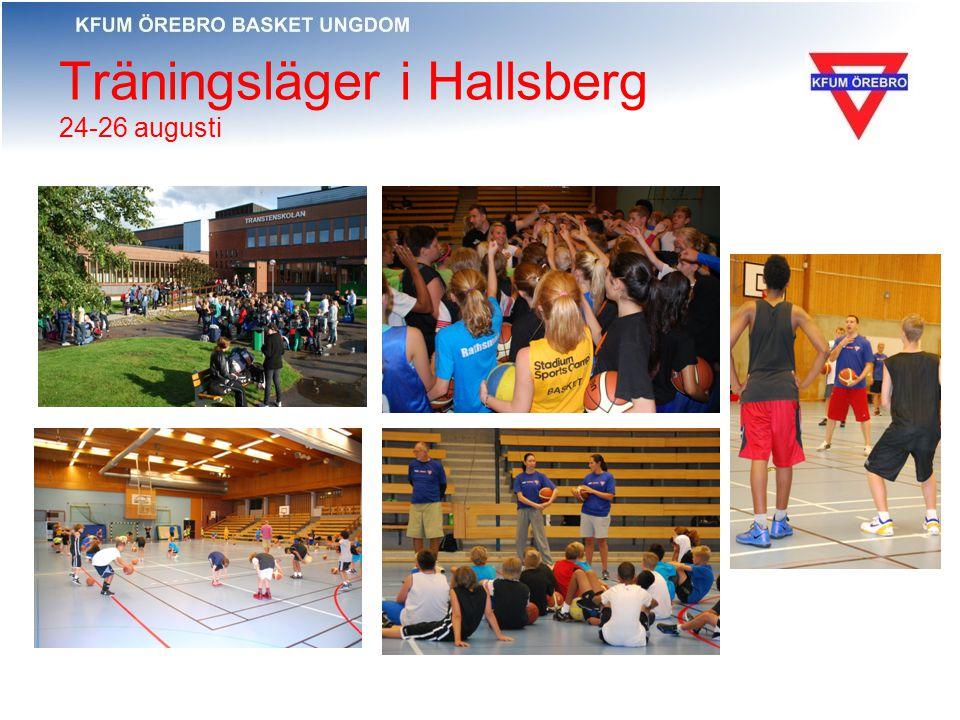 Träningsläger i Hallsberg 24-26 augusti