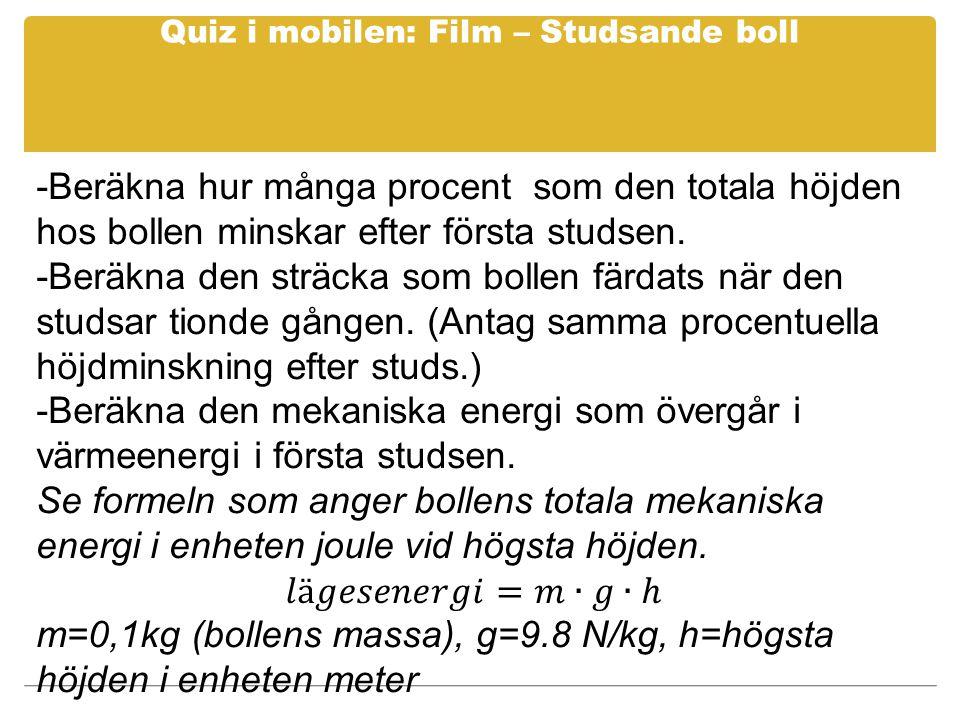 Quiz i mobilen: Film – Studsande boll
