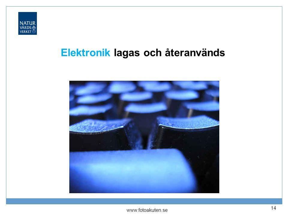 Elektronik lagas och återanvänds 14 www.fotoakuten.se