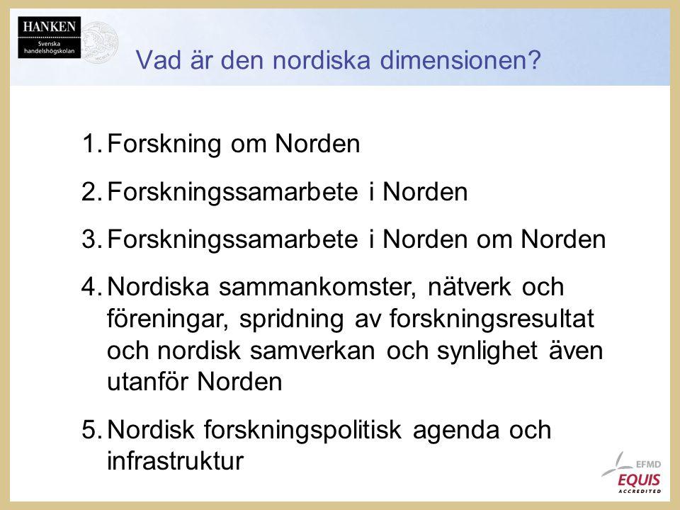 Vad är den nordiska dimensionen.