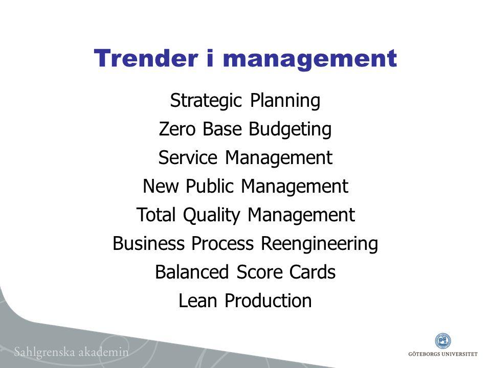 Lärande organisationer Kontinuerlig och öppen diskussion om organisatoriska mål och strategier.