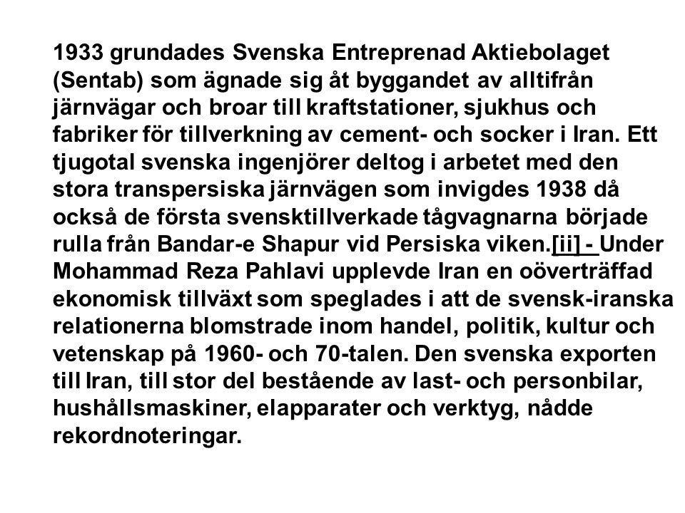 1933 grundades Svenska Entreprenad Aktiebolaget (Sentab) som ägnade sig åt byggandet av alltifrån järnvägar och broar till kraftstationer, sjukhus och