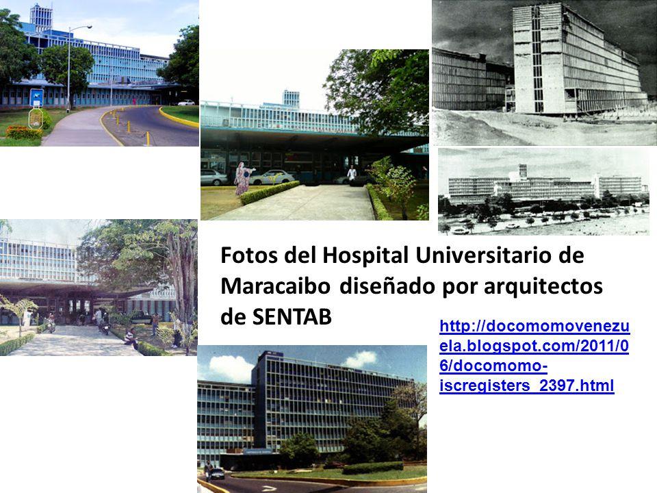 Fotos del Hospital Universitario de Maracaibo diseñado por arquitectos de SENTAB http://docomomovenezu ela.blogspot.com/2011/0 6/docomomo- iscregister