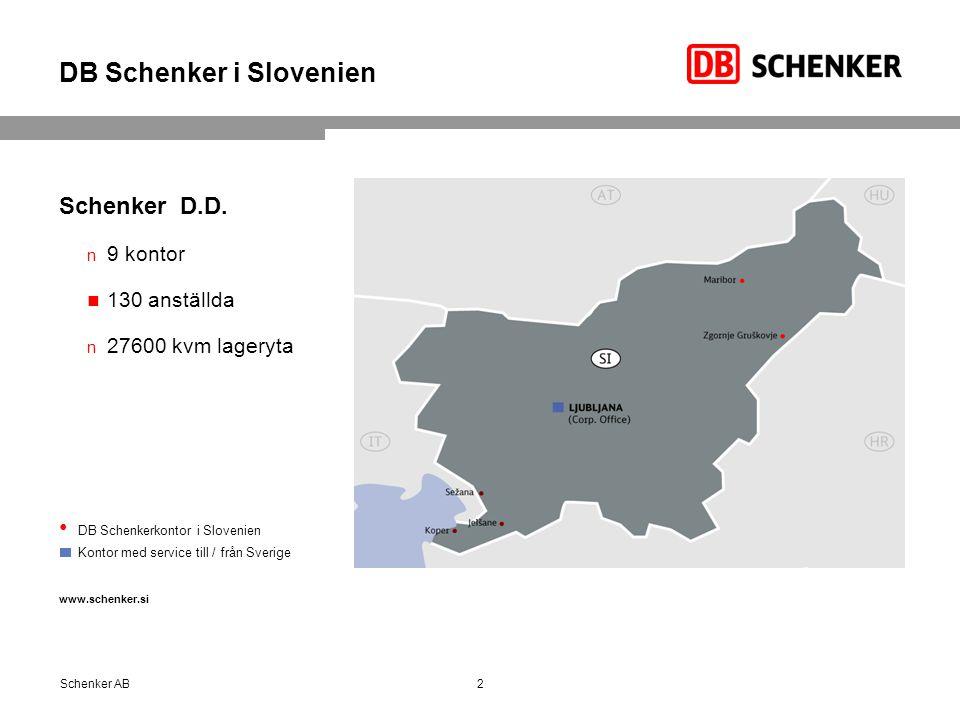 DB Schenker i Slovenien Schenker D.D.