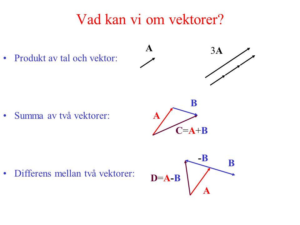 Vad kan vi om vektorer.