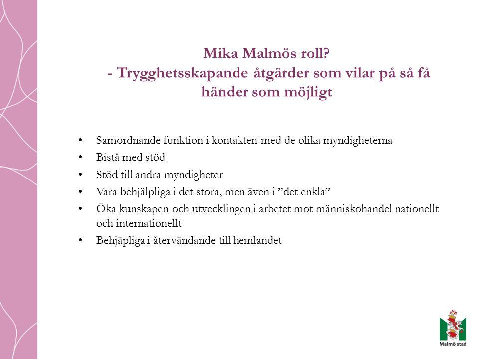 Mika Malmös roll.