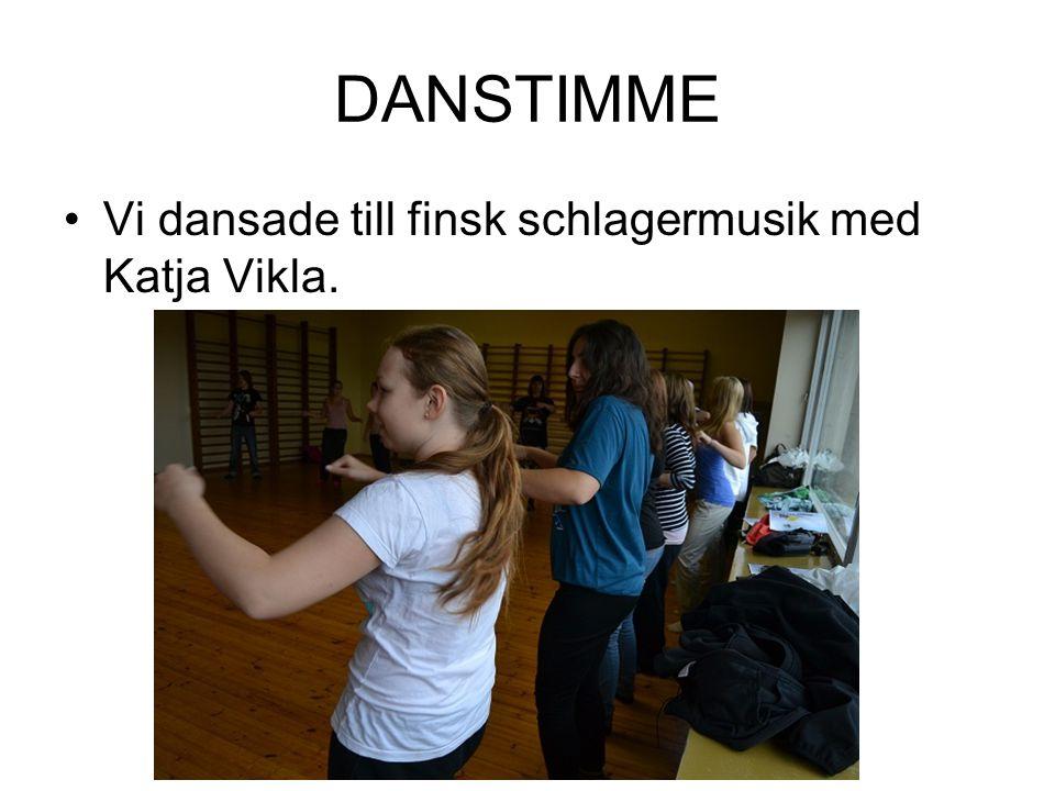 DANSTIMME Vi dansade till finsk schlagermusik med Katja Vikla.