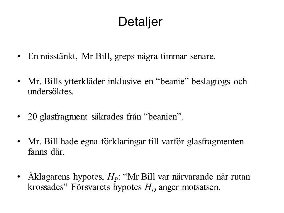 Detaljer En misstänkt, Mr Bill, greps några timmar senare.