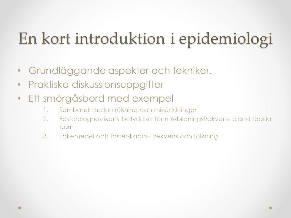 Ur Socialstyrelsens rapport om fosterskador, 2012